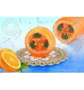 Mydło peelingujące  z lufą pomarańczowe